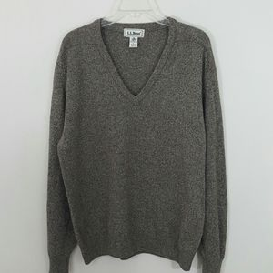 L.L. BEAN 100% Lambswool V-neck Sweater-Large